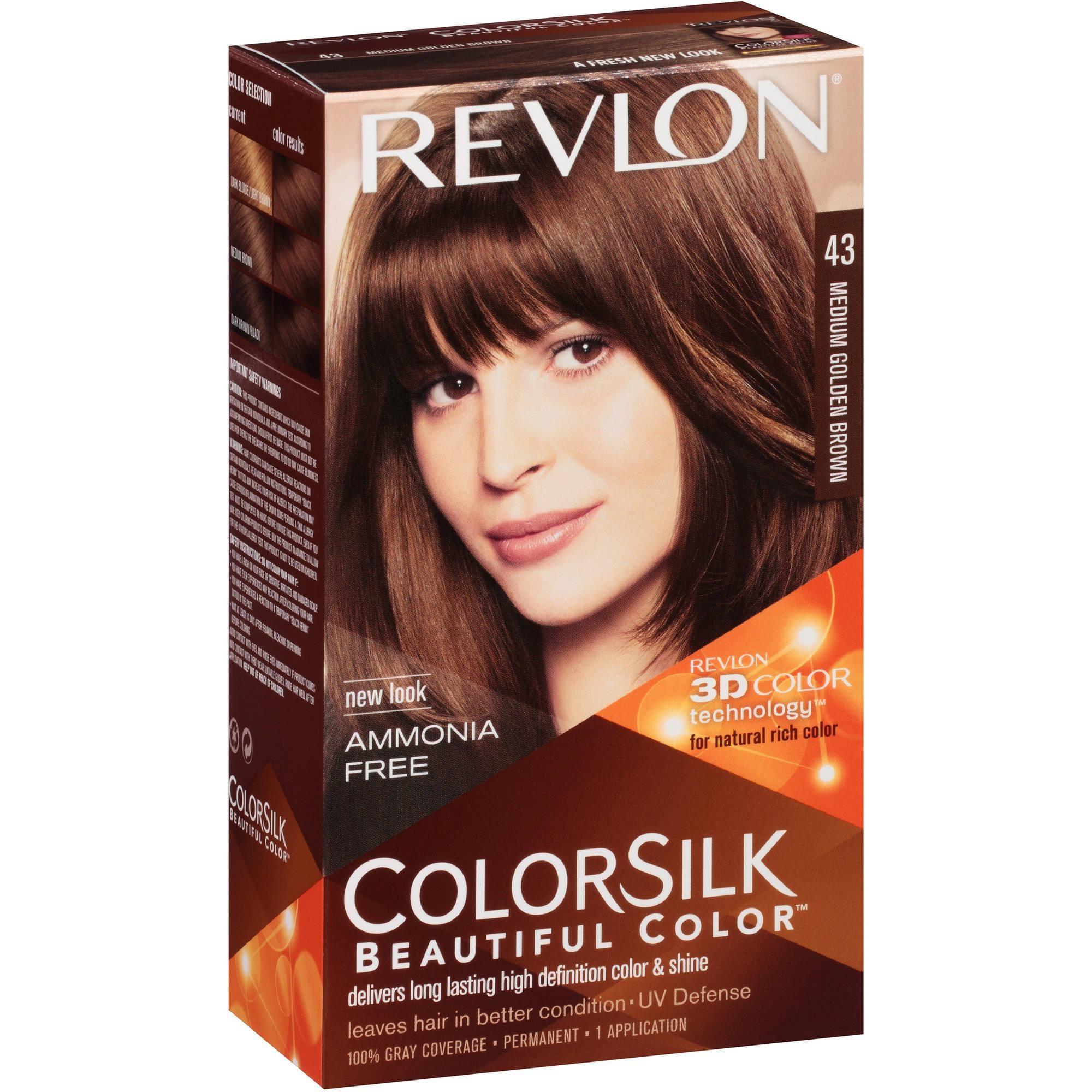 revlon colorsilk hair color 43 medium golden brown